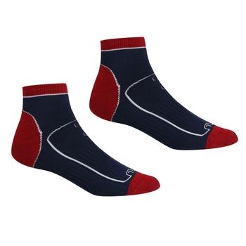 Men's Samaris Trail Socks Navy Dark Red