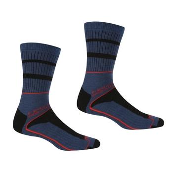 Men's Samaris 3 Season Socks Dark Denim Cajun Orange