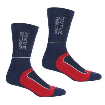 Men's Samaris 2 Season Socks Navy Dark Red
