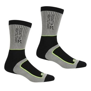 Men's Samaris 2 Season Socks Dark Steel Electric Lime