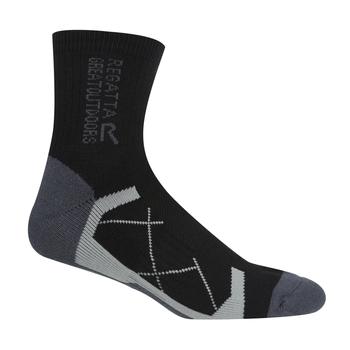 Men's 2 Pair Outdoor Active Socks Black Hawaiian Blue
