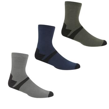 Men's 3 Pair Outdoor Lifestyle Socks Dark Steel Dark Denim