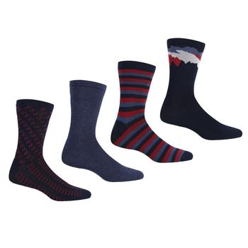 Men's 4 Pair Lifestyle Socks Dark Denim