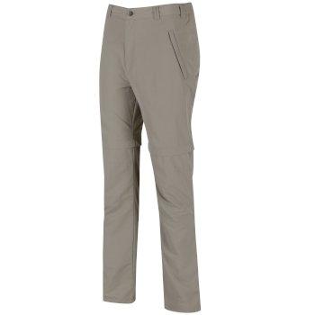 Men's Leesville Lightweight Zip Off Hiking Trousers Parchment