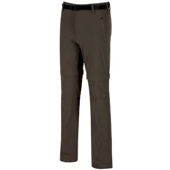 85c25d91d4f68 Brązowe spodnie turystyczne z odpinanymi nogawkami męskie Xert Stretch II