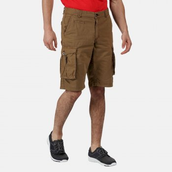 Men's Shorebay Vintage Look Cargo Shorts Dark Camel