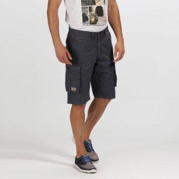 Men's Shorebay Vintage Look Cargo Shorts Seal Grey