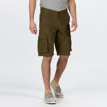 Men's Shorebay Vintage Look Cargo Shorts Camo Green
