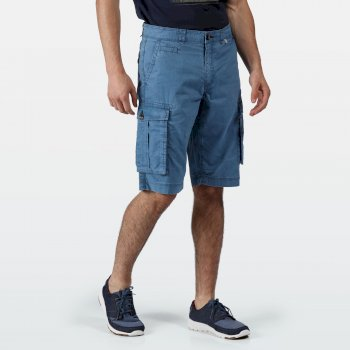 Men's Shorebay Vintage Look Cargo Shorts Stellar Blue