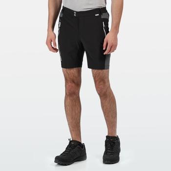 Men's Mountain Walking Shorts Black Magnet Grey