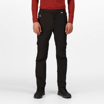 Men's Highton Zip Off Walking Pants Black