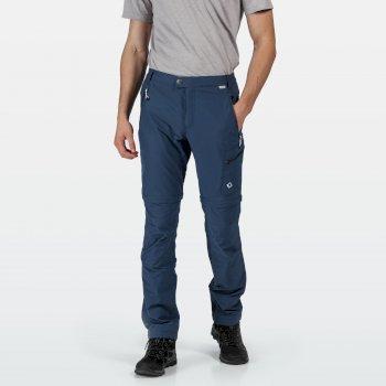 Men's Highton Zip Off Walking Trousers Dark Denim