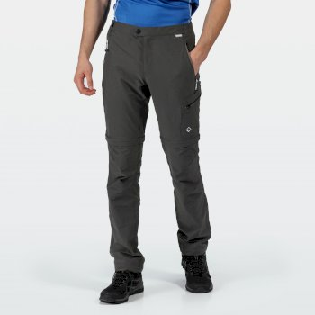 Men's Highton Zip Off Walking Trousers Magnet Grey