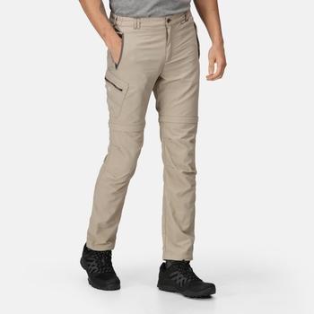 Men's Leesville II Zip Off Walking Trousers Parchment