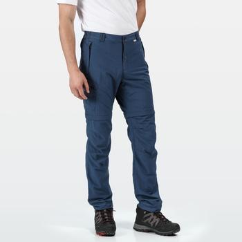 Men's Leesville II Zip Off Walking Trousers Dark Denim
