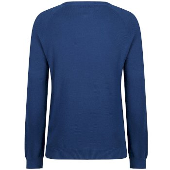 Kolten Crew Neck Cotton Knit Sweater Prussian Blue