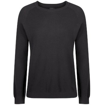 Kolten Crew Neck Cotton Knit Sweater Ash
