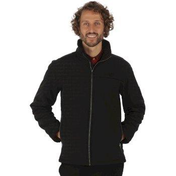 Castiel Sherpa Backed Windproof Softshell Jacket Black