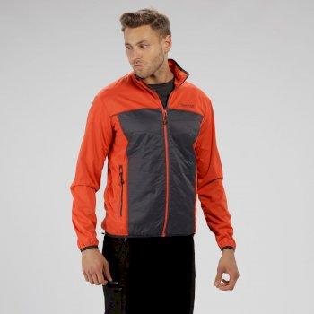 Walson Hybrid Lightweight Softshell Jacket Amber Glow Seal Grey