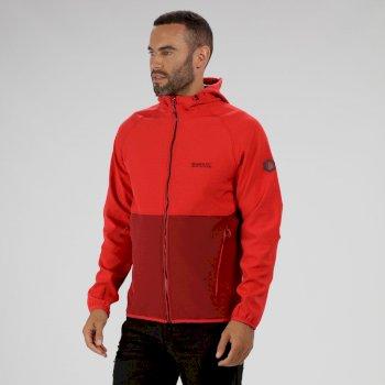Arec II Hooded Softshell Jacket Delhi Red Seal Grey