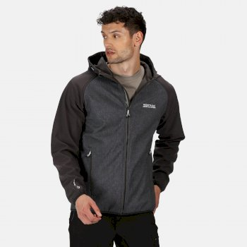 Men's Arec II Hooded Softshell Walking Jacket Ash Marl