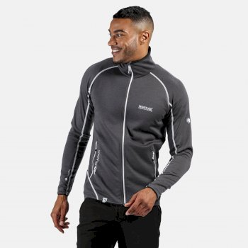 Men's Hentana II Lightweight Full Zip Stretch Midlayer Magnet