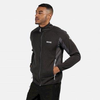 Men's Ecuador Full Zip Stretch Midlayer Magnet Grey Black