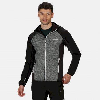 Men's Garn Softshell Hooded Walking Jacket Black Ash
