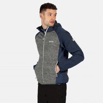 Men's Garn Softshell Hooded Walking Jacket Nightfall Navy Ash Brunswick Blue