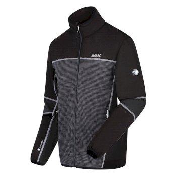 Men's Yare III Full Zip Softshell Walking Jacket Magnet Marl Black