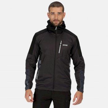 Men's Tarvos IV Lightweight Hooded Softshell Walking Jacket Ash Black