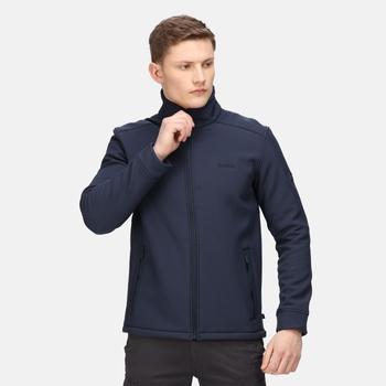 Men's Caelum Softshell Jacket Navy Black