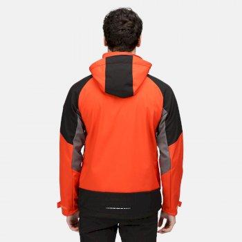 Men's Hewitts VII Softshell Jacket Cajun Orange Black Rhino