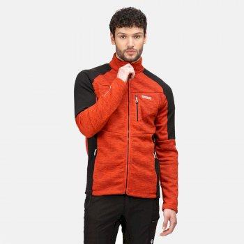 Men's Farson Softshell Jacket Cajun Orange Black Rhino