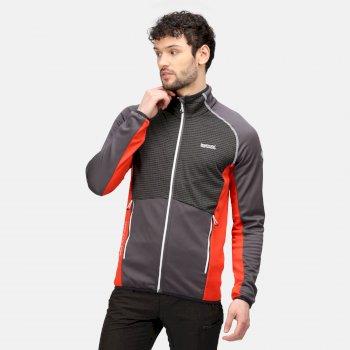 Men's Yare IV Softshell Jacket Cajun Orange Black Rhino