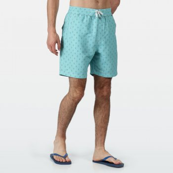 Men's Hadden II Board Printed Swim Shorts Maui Blue