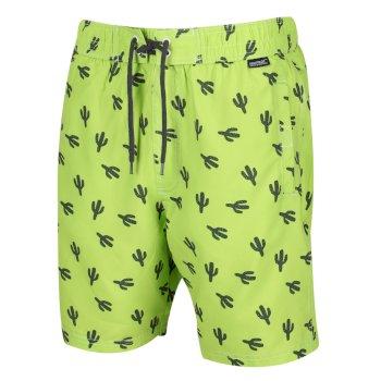 Men's Hadden II Board Printed Swim Shorts Electric Lime