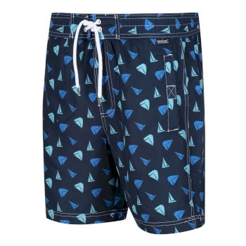 Men's Hadden II Board Printed Swim Shorts Navy Yacht