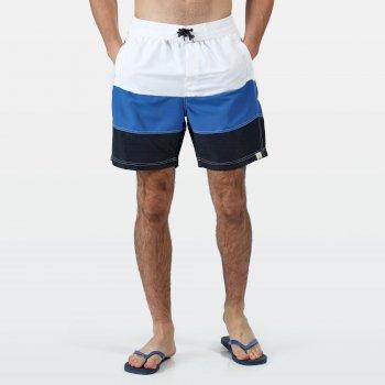 Men's Bratchmar VI Swim Shorts White Nautical Blue Navy