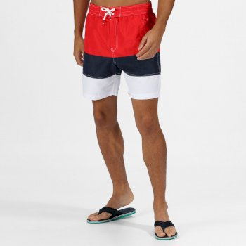 Men's Bratchmar VI Swim Shorts Red Navy White