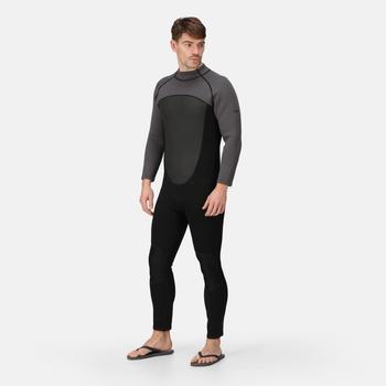 Men's Full Wetsuit Black Dark Grey