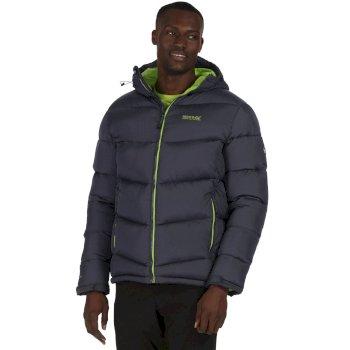 Men's Nevado Super Heavyweight Insulated Hooded Jacket Seal Grey