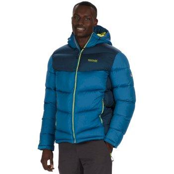 Men's Nevado Super Heavyweight Insulated Hooded Jacket Petrol Majolica Blue