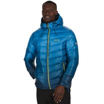 Men's Azuma Atomlight Heavyweight Insulated Hooded Jacket Majolica Blue