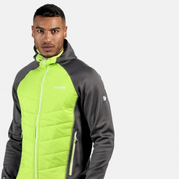 Men's Andreson IV Lightweight Insulated Hybrid Walking Jacket Magnet Grey Electric Lime
