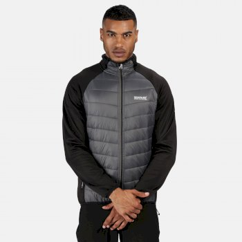 Men's Bestla Hybrid Lightweight Insulated Jacket Black Magnet Grey