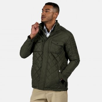Men's Lleyton Quilted Insulated Jacket Dark Khaki