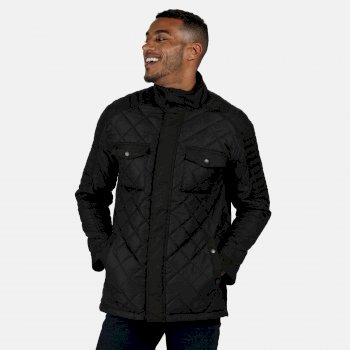 Men's Lleyton Quilted Insulated Jacket Black