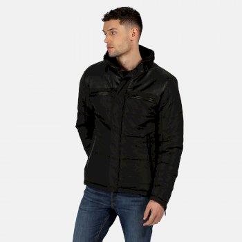 Men's Arnav Insulated Quilted Jacket Black