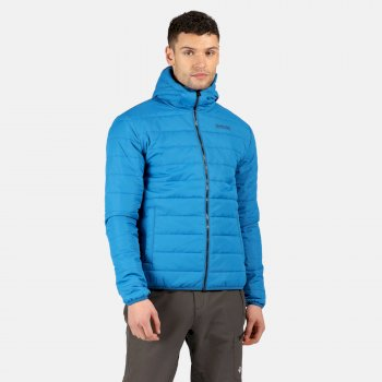 Men's Helfa Insulated Quilted Hooded Hiking Jacket Imperial Blue